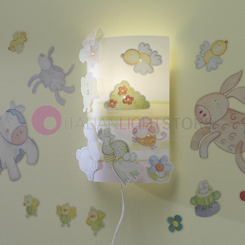 Applique lampada parete illuminazione cameretta bimbi for Applique camera bambini