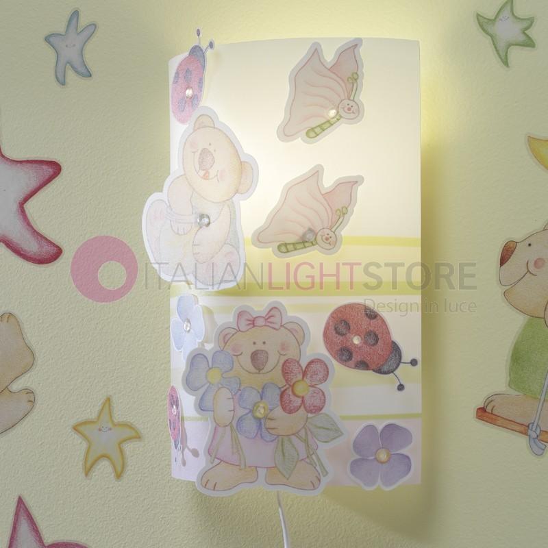 Applique lampada parete camera cameretta bambino con filo for Applique camera bambini
