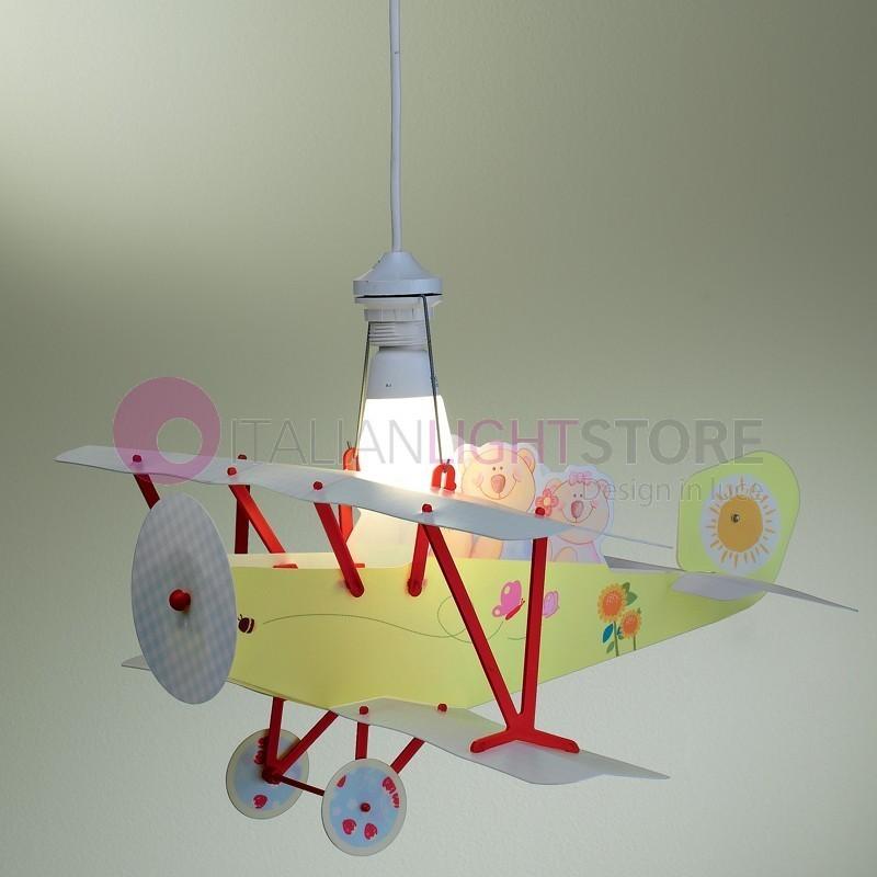 Orsetto aereo biplano lampada lampadario camera cameretta - Ikea lampadario bambini ...