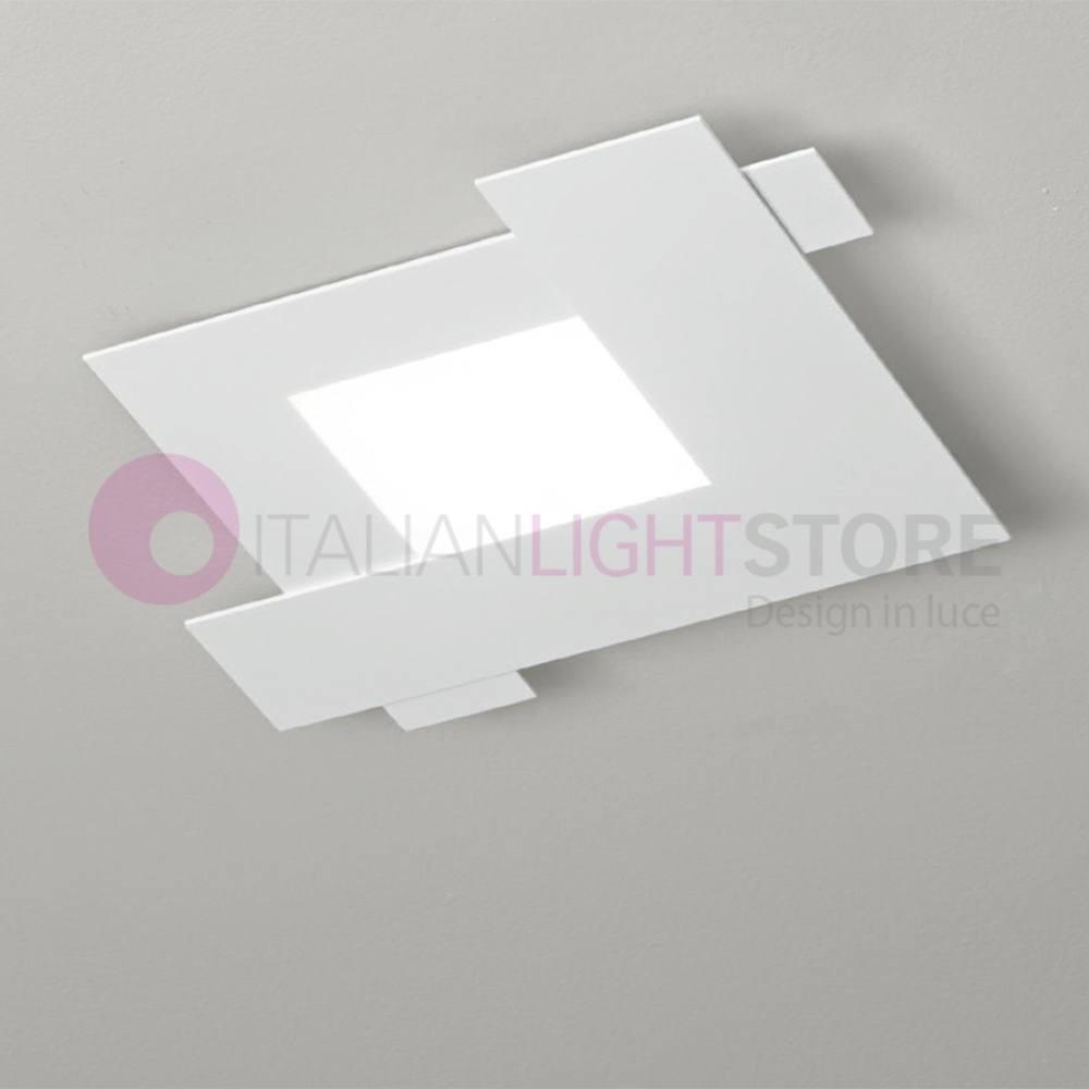 embrasser la lumi re du plafond blanc ou colombe 44x44 moderne gea lumi re. Black Bedroom Furniture Sets. Home Design Ideas
