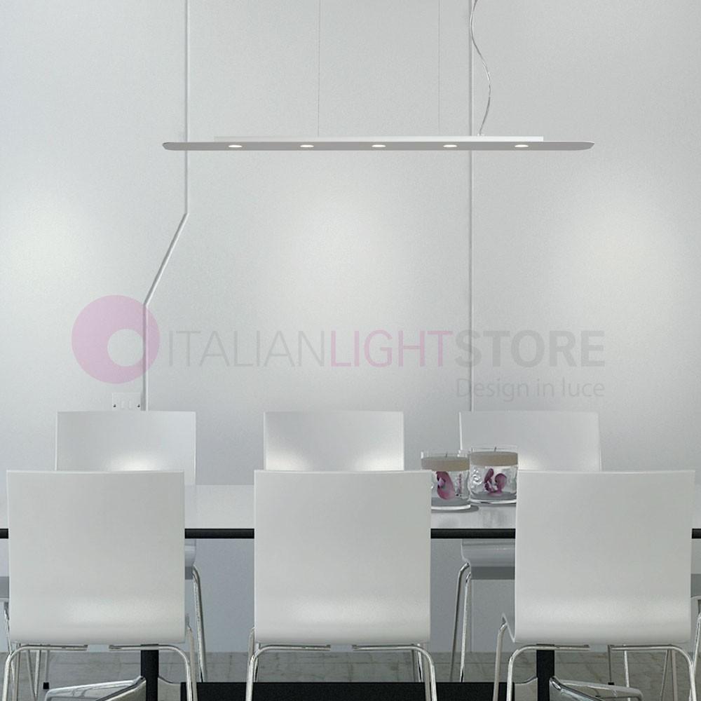 Lampadario Tavolo Da Pranzo Moderno.Biscotto Sospensione Led Dimmerabile L 100 Cm Design Moderno