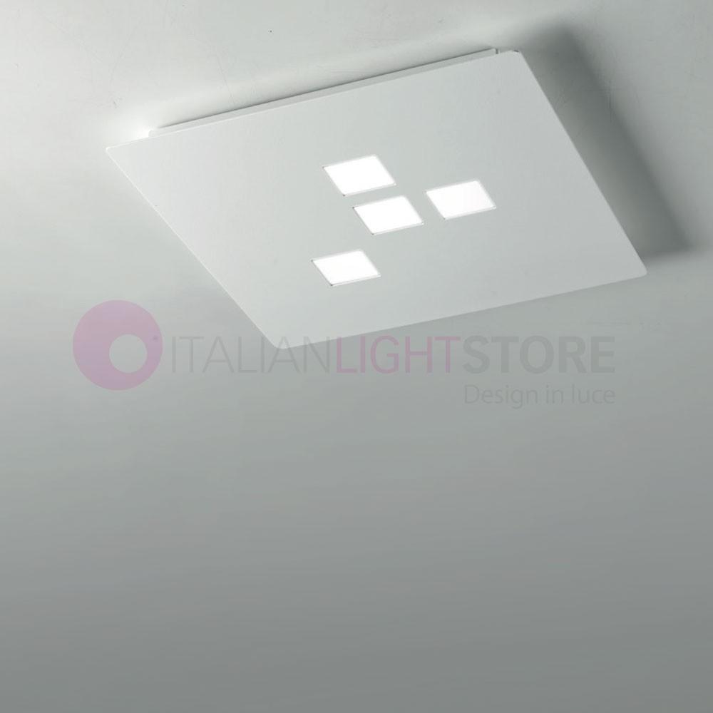 Plafoniera Led 30x30.Plateau Led Square Ceiling Light 4 Led 30x30 Modern Design