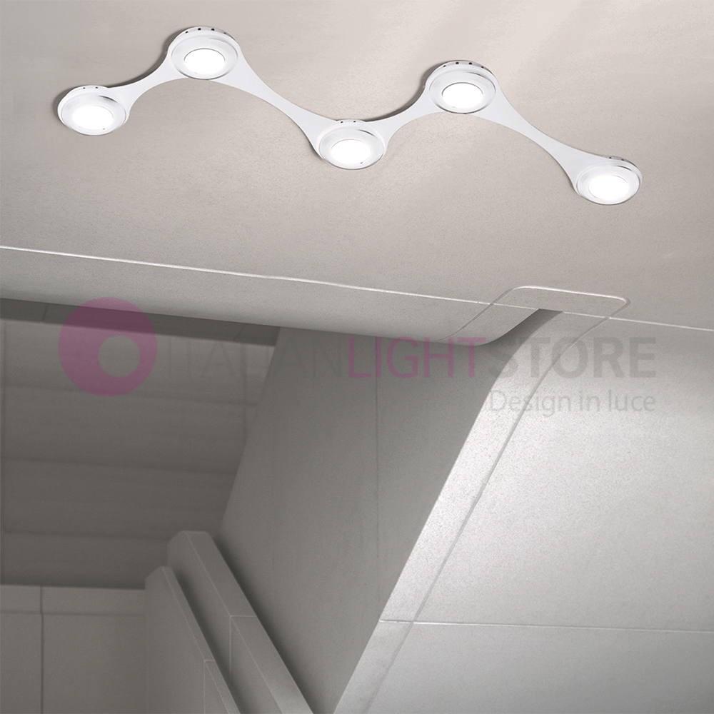 Illuminazione A Soffitto.Infinito Lampada Modulare Parete O Soffitto 5 Luci Gx53 Led