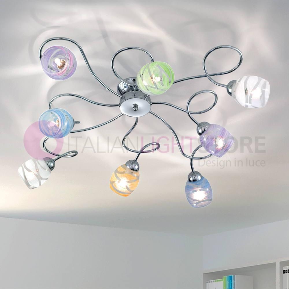 Lampadari Per Stanza Ragazzi camilla plafoniera a soffitto a 8 luci