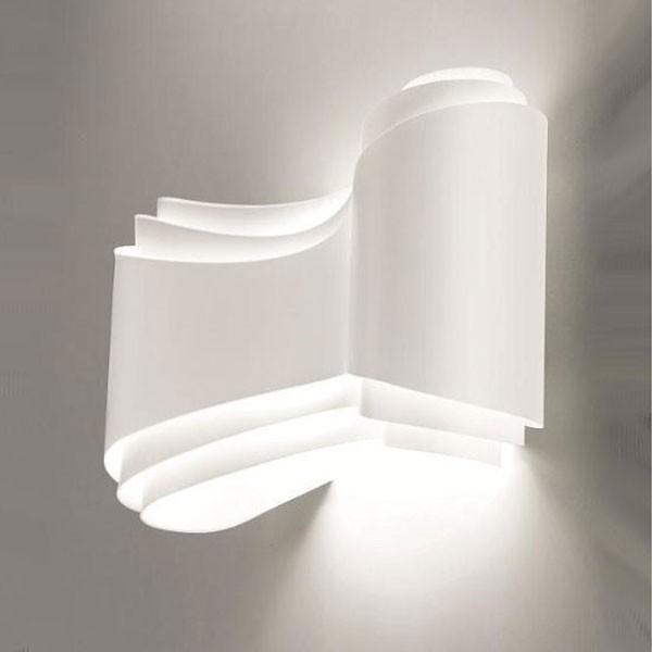 Ionica applique alogena lampada parete metallo design moderno selene - Lampade da parete design ...