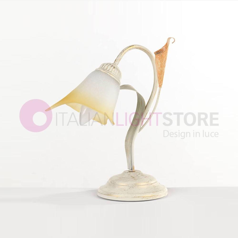 Lily Style Calla Classique Florentin Forgé Table Lampe De En Fer Ivoire DH29WEIY