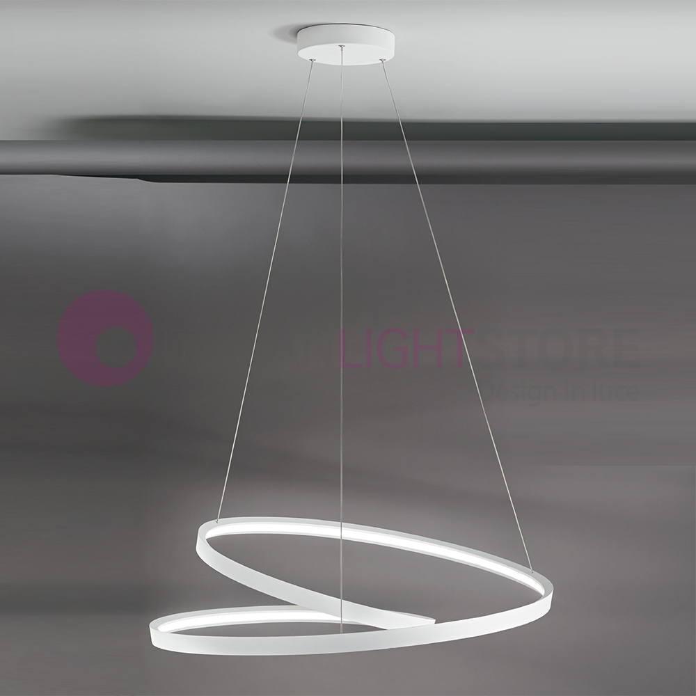 RHYTHM Lamp Pendant Light Circles LED Modern Design 6618BLC PERENZ