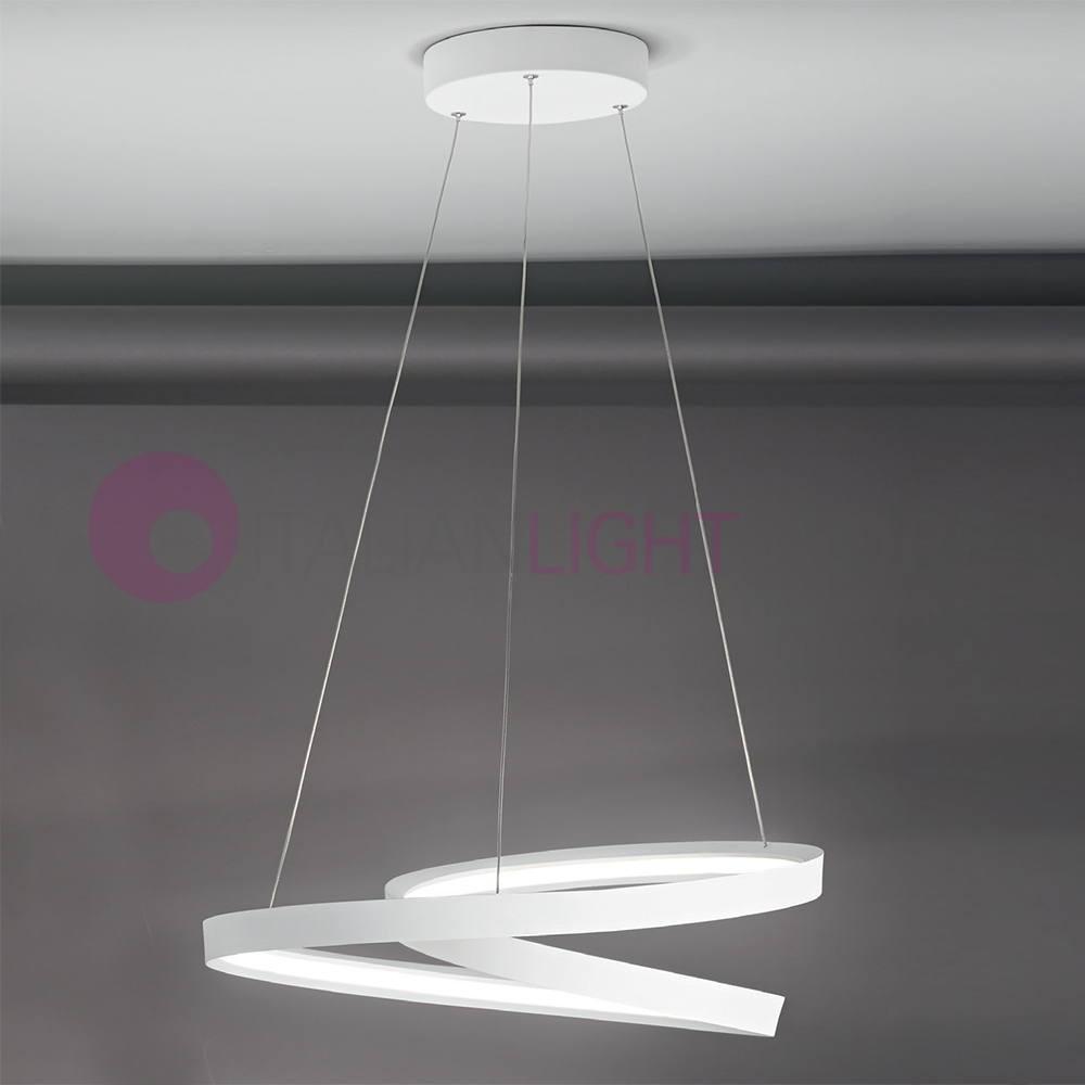 The rhythm pendant lamp led modern design perenz 6620blc for Lampadari a led