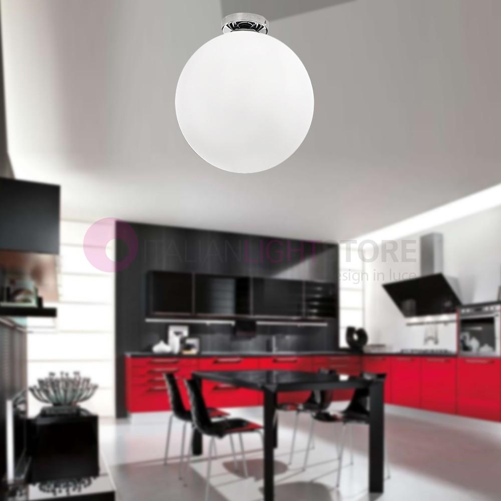 6348 perenz lighting sphera chandelier ceiling modern glass ball white d 30