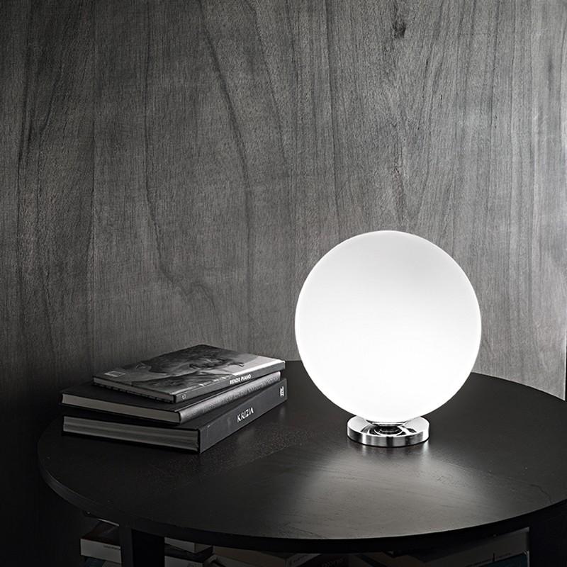 Sphera Perenz 6350 Lampada Sfera Vetro Bianco Moderno
