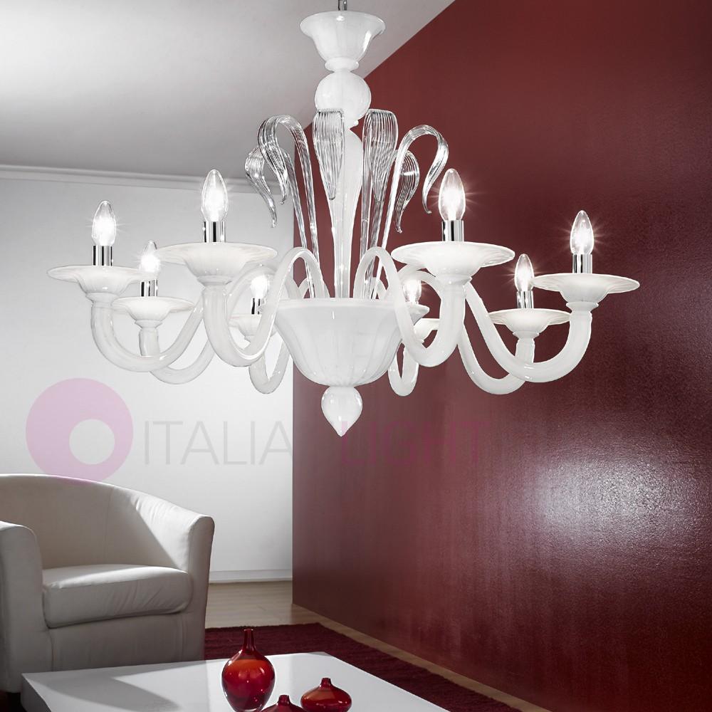 more photos c5de3 73116 CA' DELLA FENICE Chandelier 8 Lights in Murano Glass, Colored