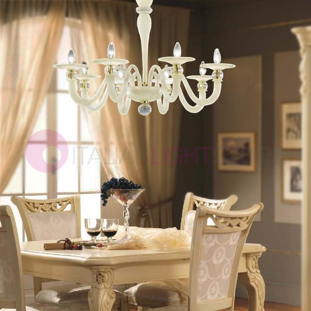 Lampadari Con Bottiglie Di Vetro ca' del doge lampadario a soffitto 8 luci in vetro di murano colorato