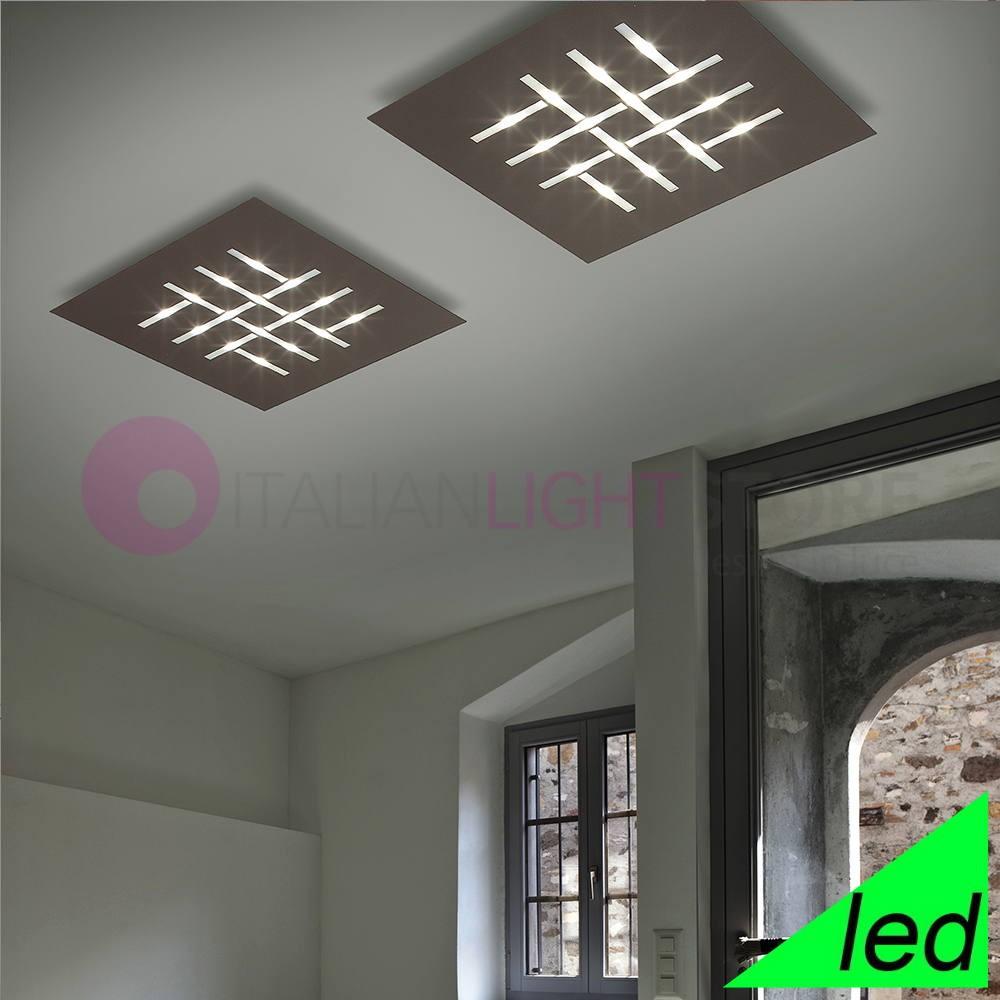 Lampe Plafond Salon Design modÈle plafonnier led carrée moderne, design ultra-mince l. 60