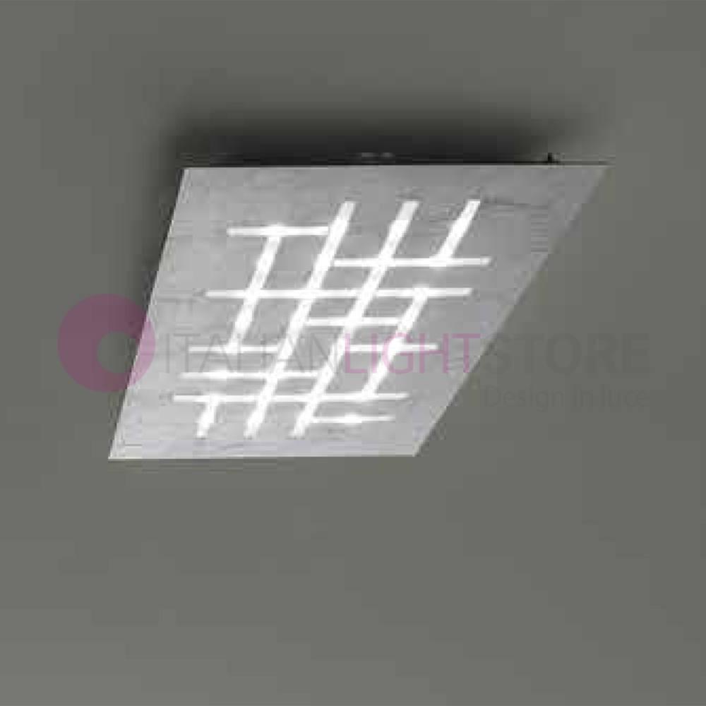 Pattern Plafoniera Led Design Moderna 2095pl80 Braga Illuminazione