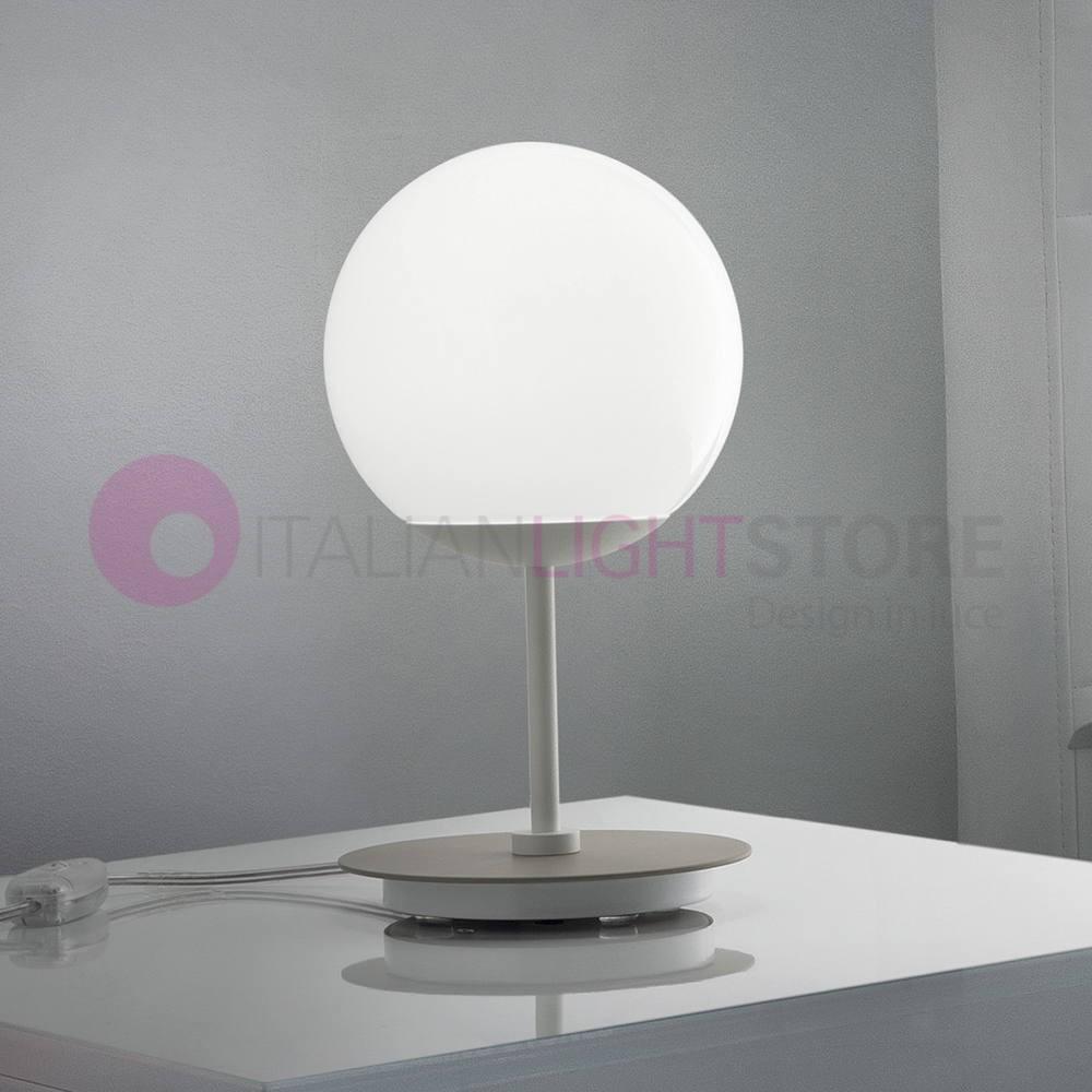 Design Lampade Da Tavolo sfera lampada da tavolo e comodino a led design vetro sfera bianca