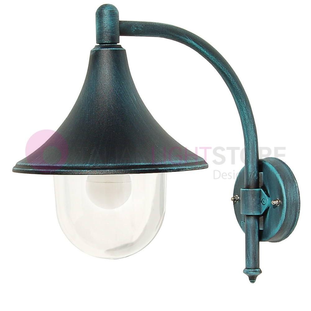 Lampade Per Porticati Esterni dione nero lanterna a parete in alluminio lampada per esterno classica