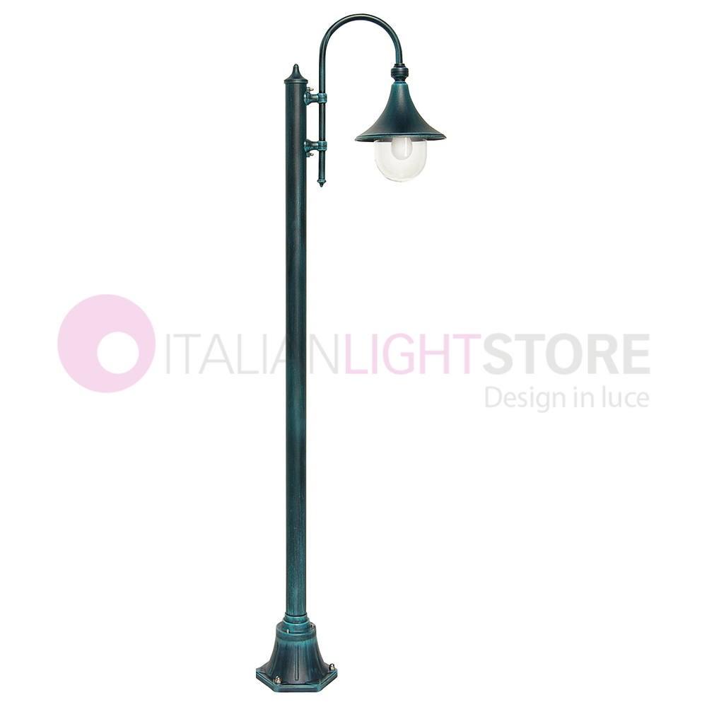 DIONE BLACK Pole Lamp Classic Aluminium for Lighting Outdoor Garden