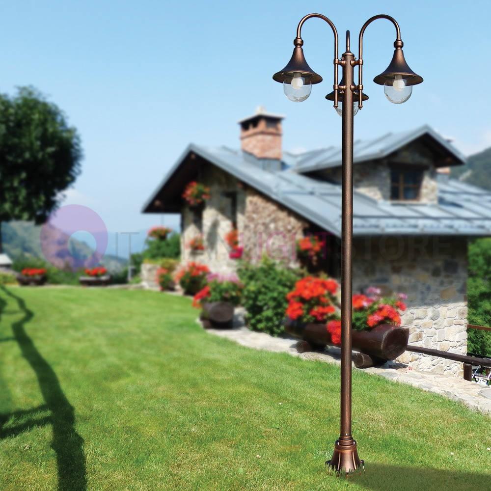 DIONE BLACK Pole Lamp Classic Aluminium Outdoor Garden