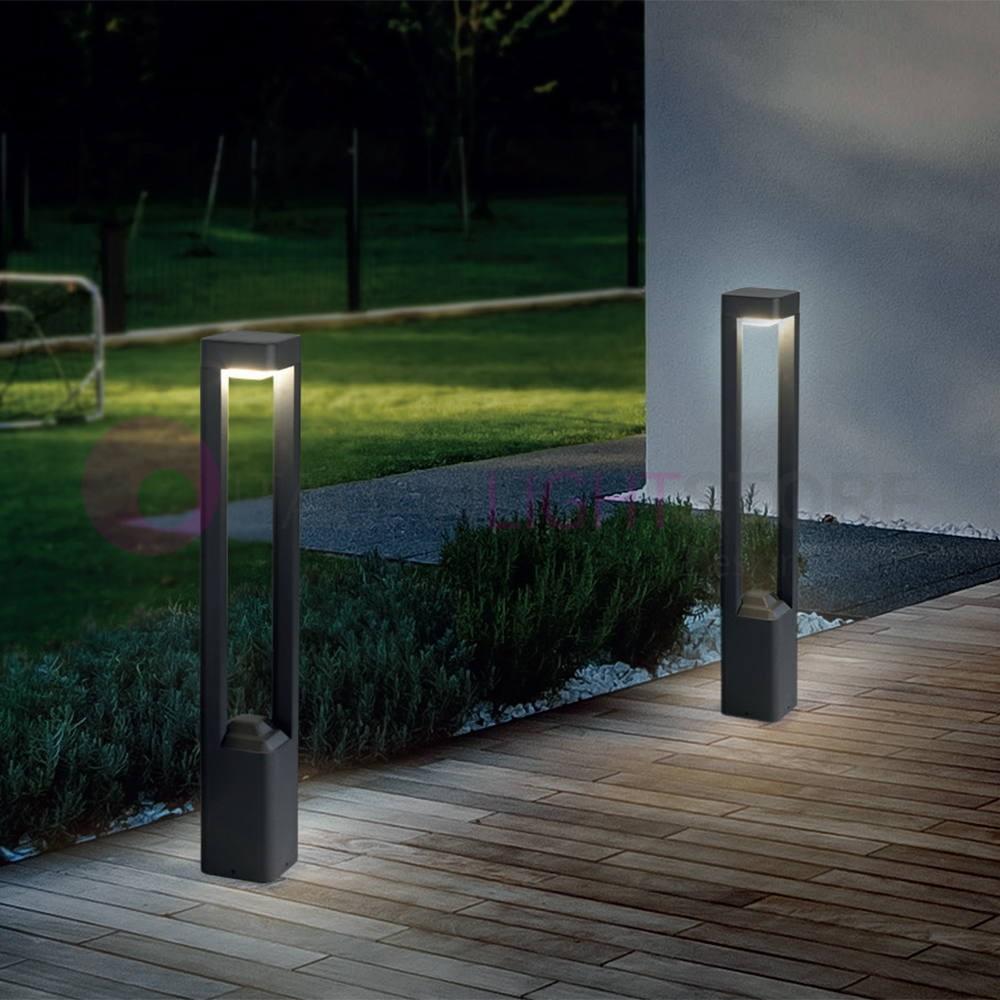 Naya paletto lampioncino a led da giardino design moderno ip54 faro - Giardino moderno design ...