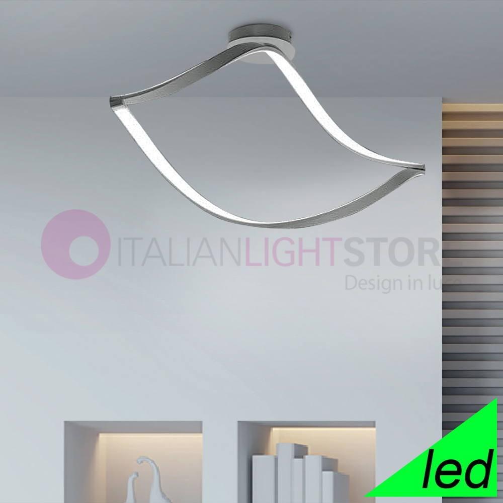 Lampadari Da Soffitto A Led.Nodo Plafoniera Led Curvata Attorcigliata Design Moderno