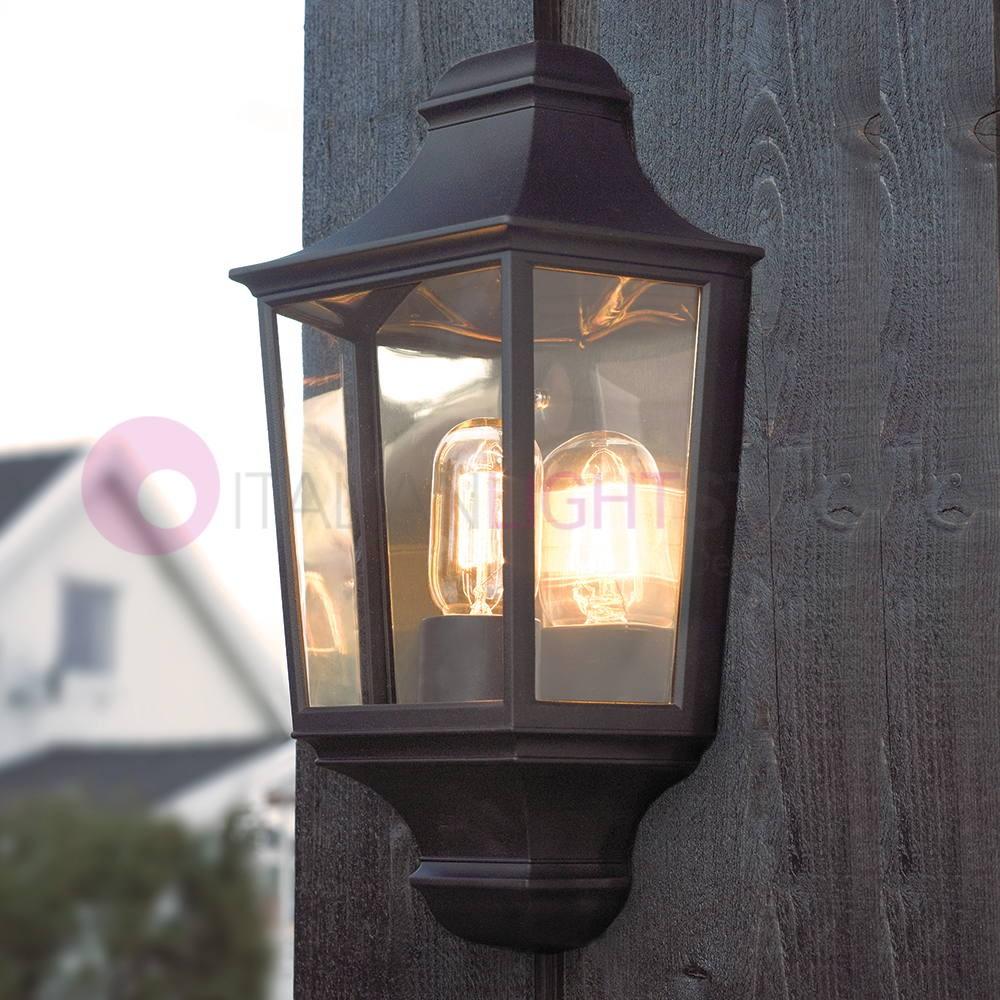 24,5cm e27 Illuminazione facciate CASA Lampada da parete//esterno lampada in nero H