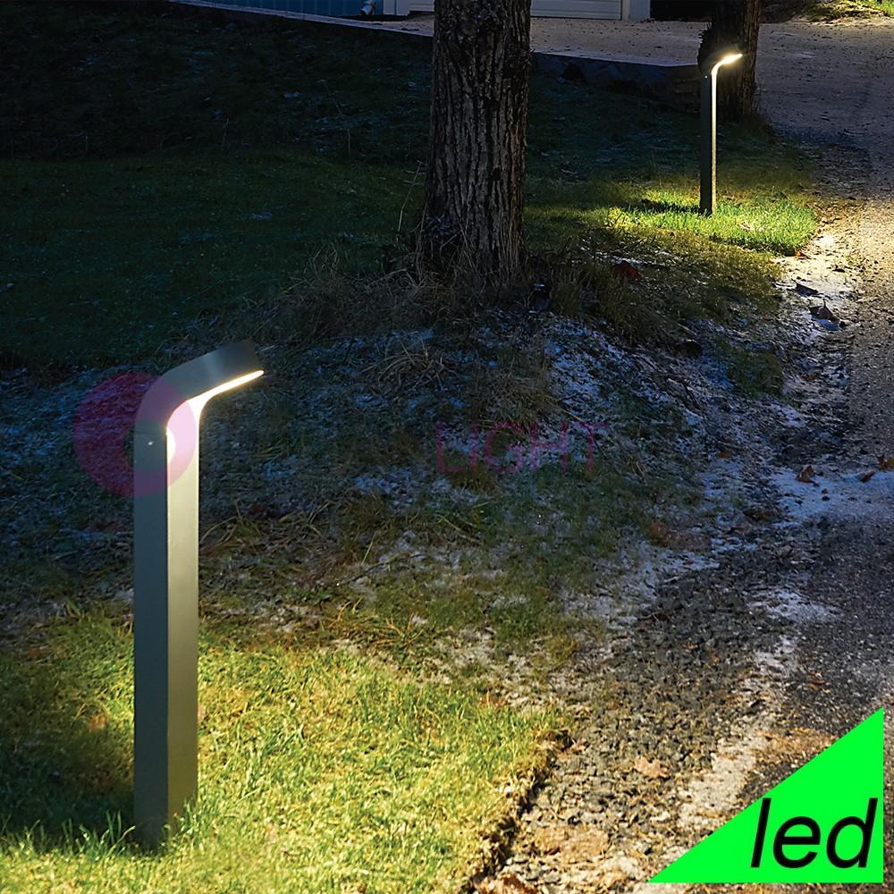 Paletti Illuminazione Esterna Led.Molde Lampioncino Moderno A Led Per Illuminazione Giardino Esterno