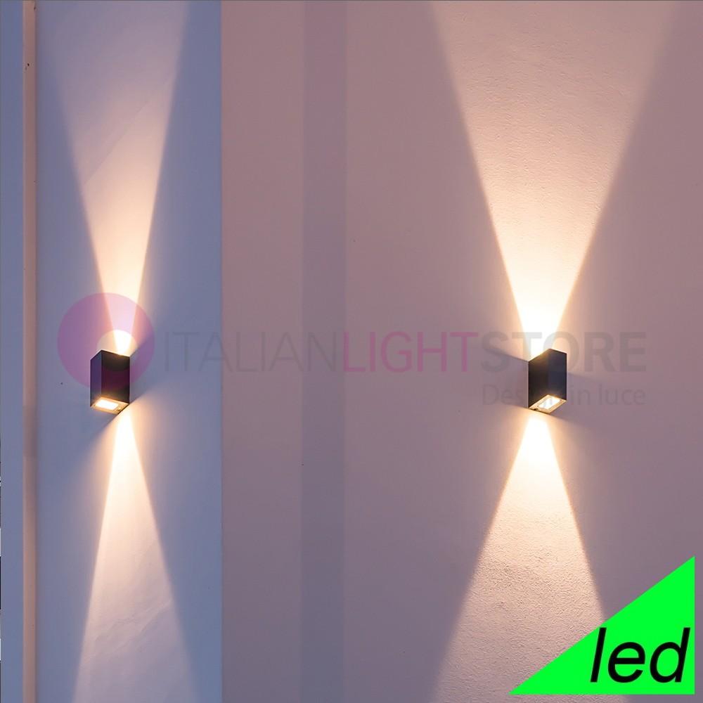 Faretti Per Illuminazione Esterna.Lillehamer Faretto Moderno A Led Doppia Emissione Ip65 Per Illuminazione Esterno