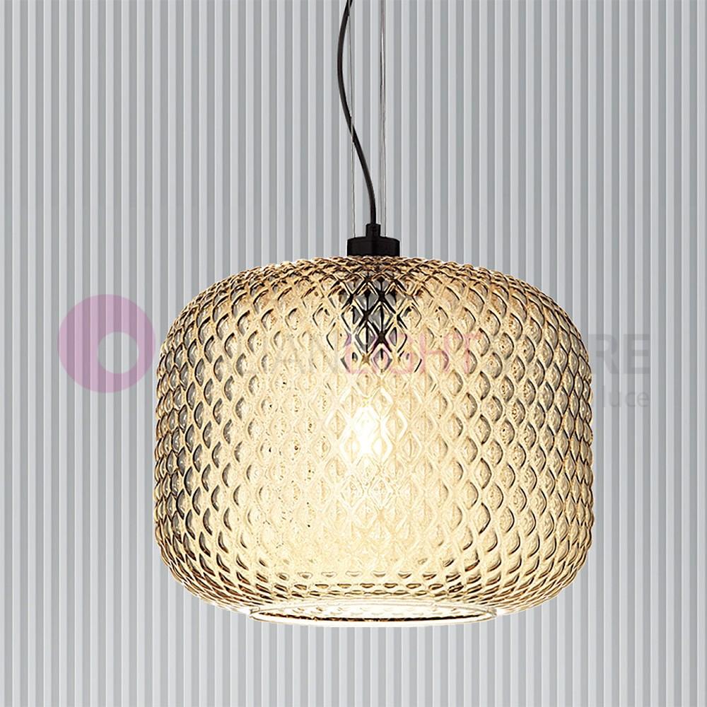 Lampadari In Vetro Soffiato.Brandy Sospensione Lampadario Vetro Soffiato Moderno Ondaluce Ciciriello