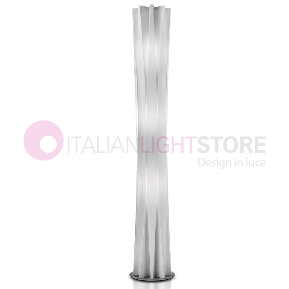 BACH Lampada da Terra Design Moderno h. 184 Bianco o Oro