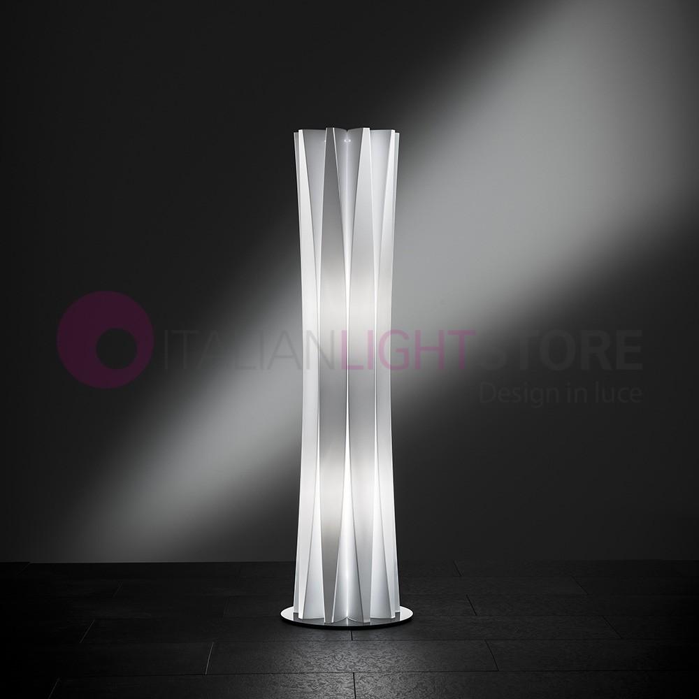 BACH Lampada da Terra Design Moderno h. 116 Bianco o Oro