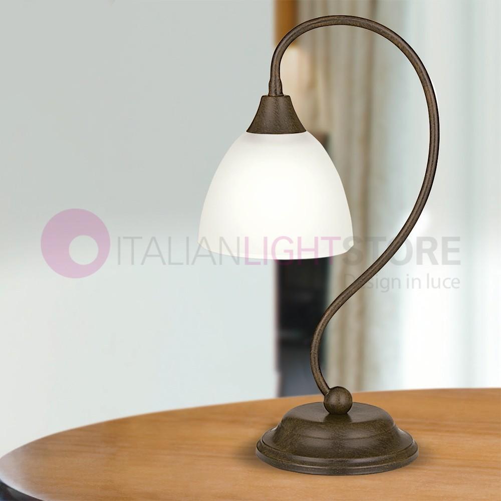 Susegana 1785 L1 Lam Export Abat Jour Lamp Bedside Table Rustic
