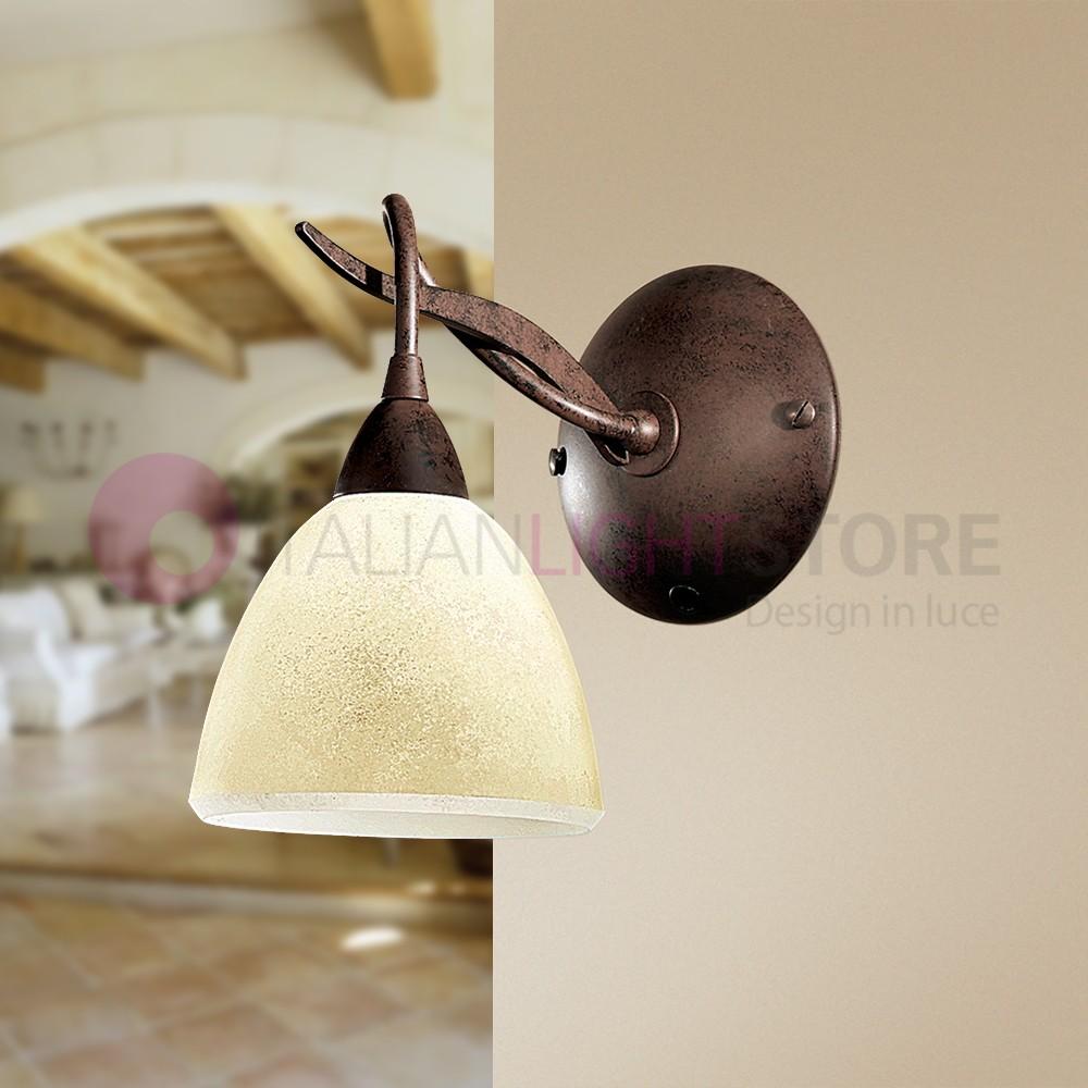 Lampade Da Parete Con Braccio maser applique braccio in ferro stile rustico classico
