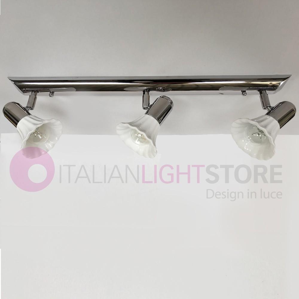 Illuminazione Bagno A Parete dea lampada parete soffitto 3 spot orientabili ceramica