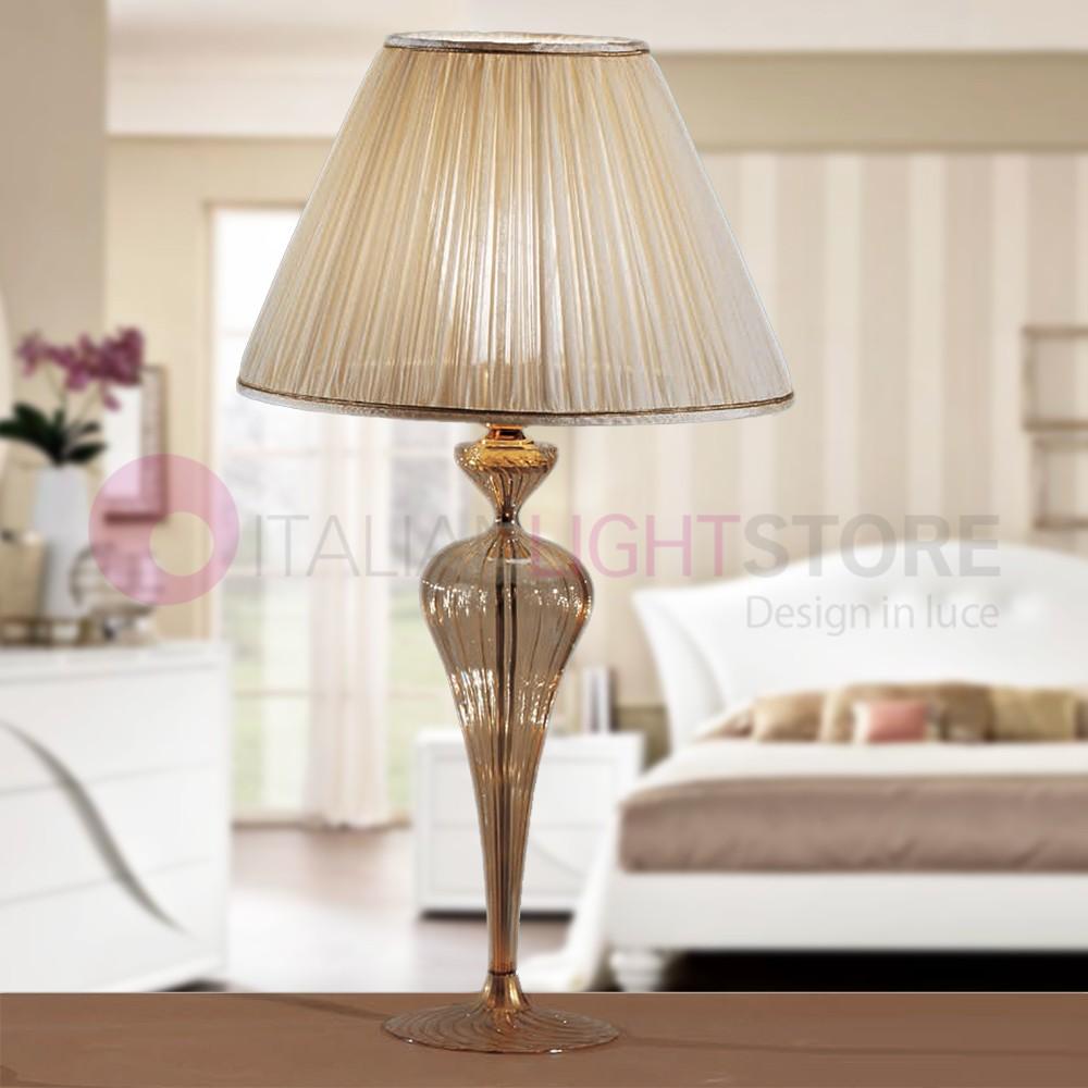 Class Lampada Comodino Abat Jour Vetro H63 Classica Febo Light