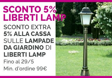 PROMOZIONE LAMPADE DA GIARDINO BY LIBERTI LAMP